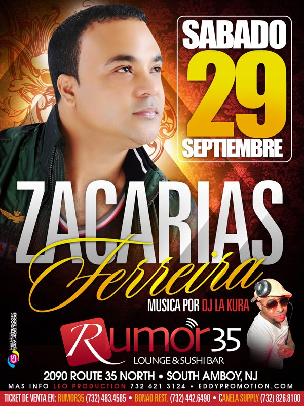 zacarias ferreira en rumor 35 night club