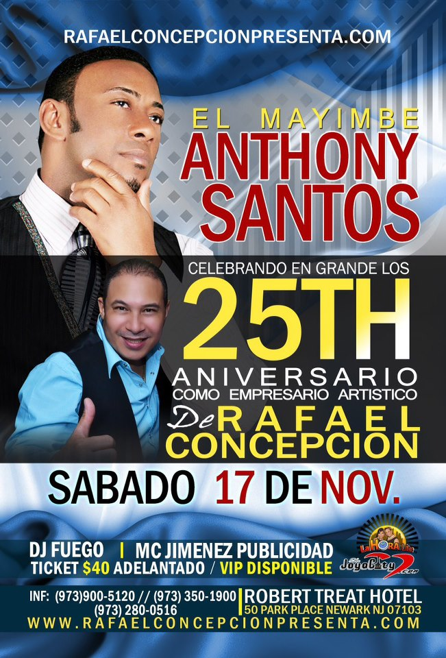 el mayimbe anthony santos en robert treat hotel
