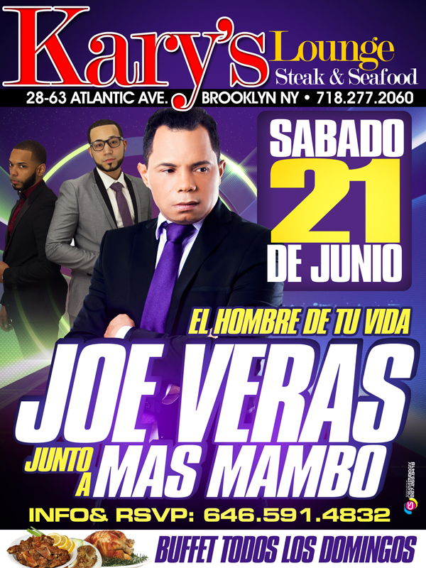 Joe veras en Kary's lounge