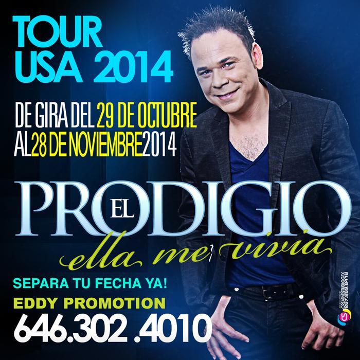 el prodigio tour en usa desde el 29 de octobre hasta 28 de noviembre
